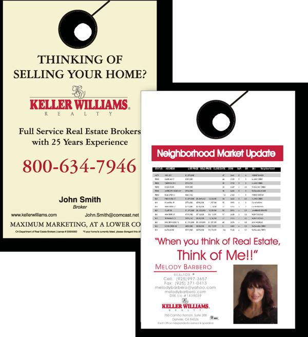 Keller Williams Door Hangers diablo printing and copying - danville, ca - door hangers